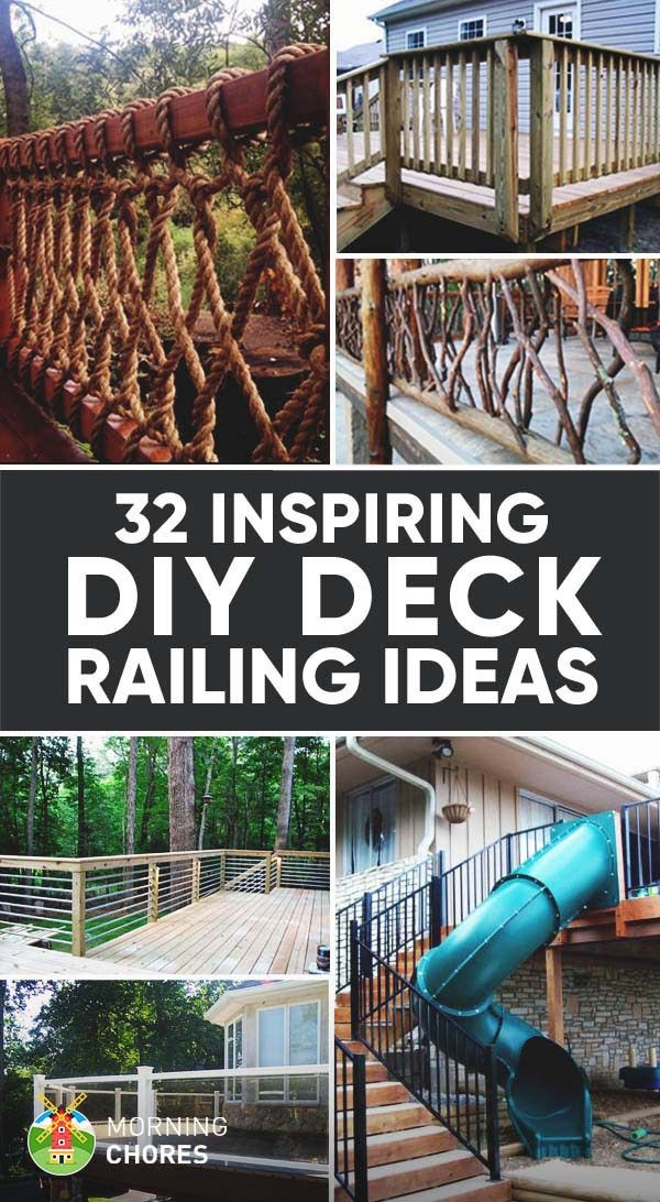 32 DIY Deck Railing Ideas & Designs That Are Sure to Inspire You – Projects