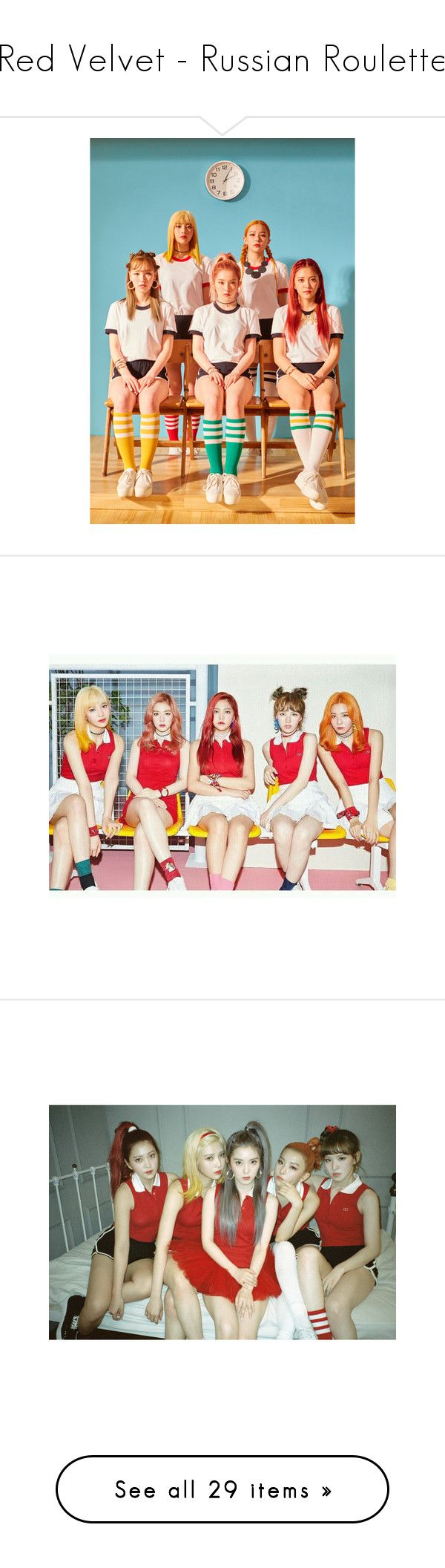 """""""Red Velvet - Russian Roulette"""" by abigailoberfoell ❤ liked on Polyvore featuring kpop, backgrounds, red velvet, girls, people, yeri, home, home decor, red home accessories and red home decor"""