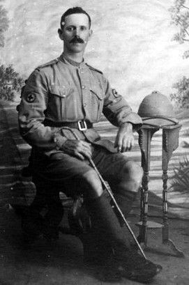 Old photograph of an Army Medical Corps soldier from St Andrews, Fife, Scotland
