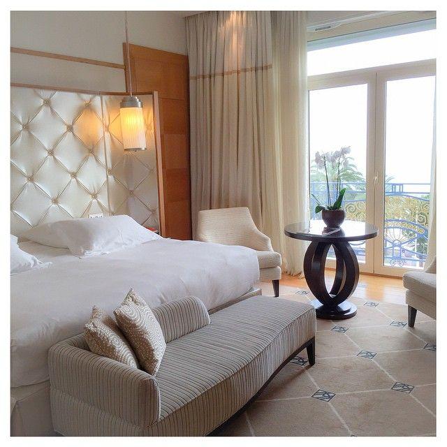 Beautifully designed room at Grand Hyatt Cannes Hôtel Martinez.