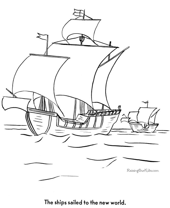 columbus ships coloring pages - photo #19