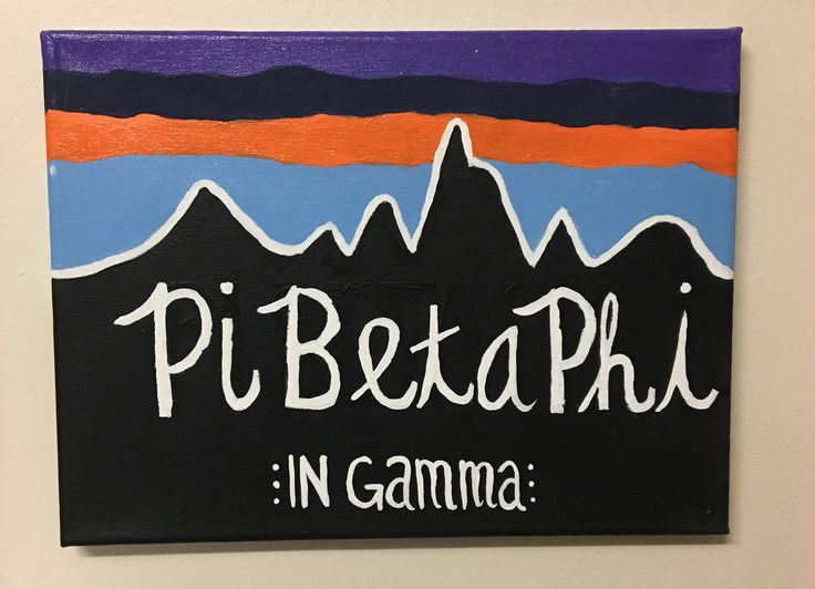 Pi Beta Phi Patagonia sorority canvas.