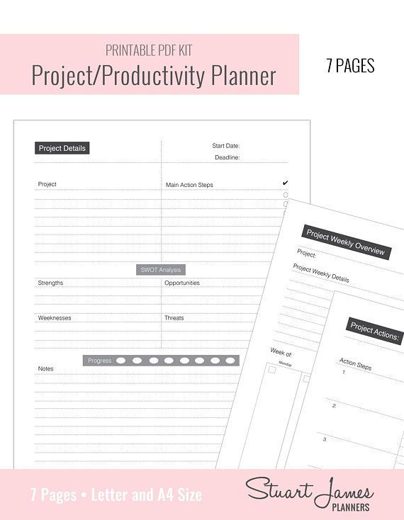 project management business planner project planner productivity