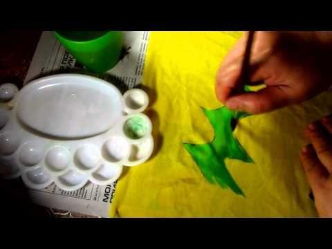 Painting Rhythmic Gymnastics Leotards - YouTube