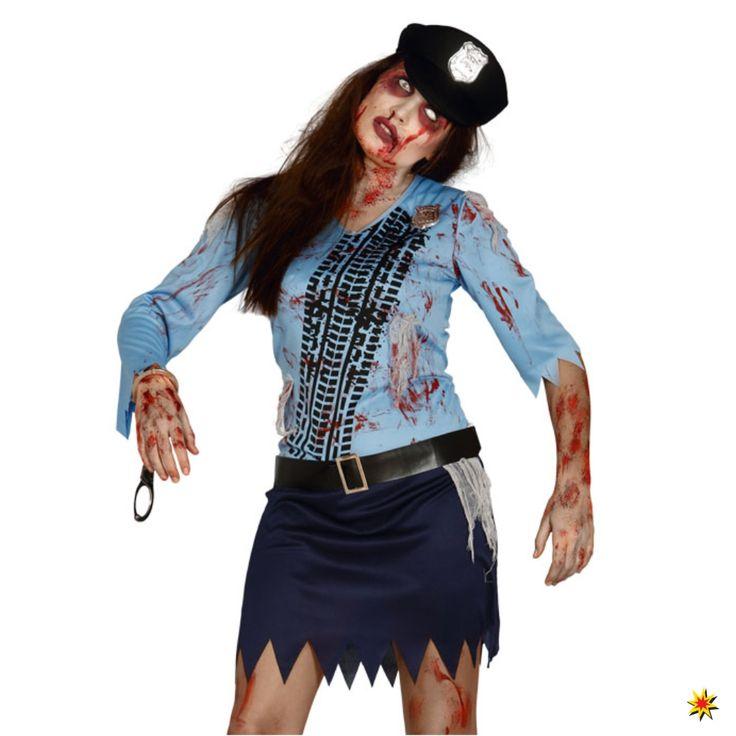 Zombie Kostüm Polizistin