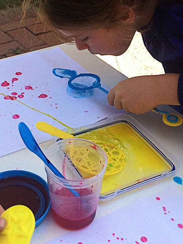 Bubble Blower Painting | Childhood101