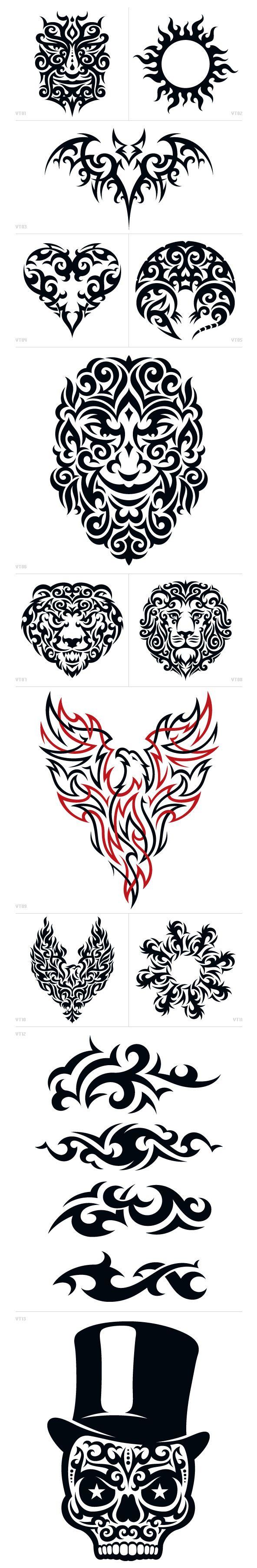 Vonster Tattoos – Tribal Tattoo Design :: Drawsigner: An illustrative design blog showcasing the creative work of Von Glitschka*vector*