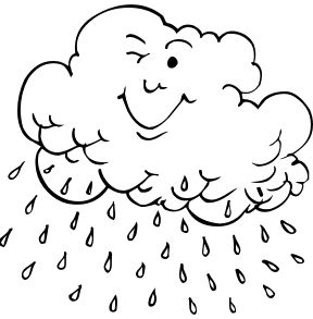 Coloring Pages For A Rainy Day Weather Pinterest