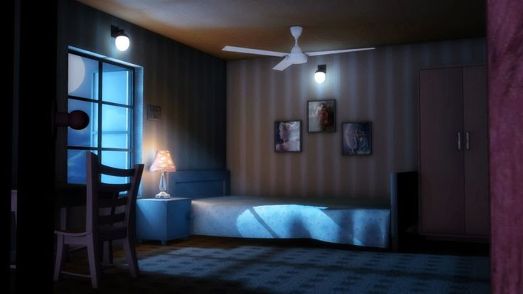 Lighting Bedroom Night Scene