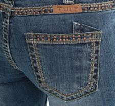 $10 OFF Olive Copper Beauty Cowgirl Tuff Jeans