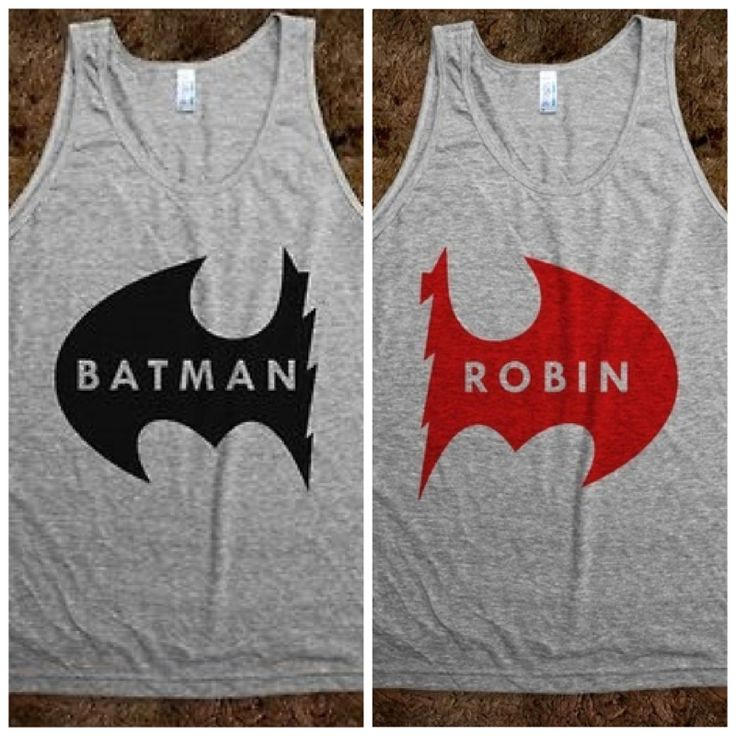 Batman and Robin friend tank tops. Want! | I want this ...