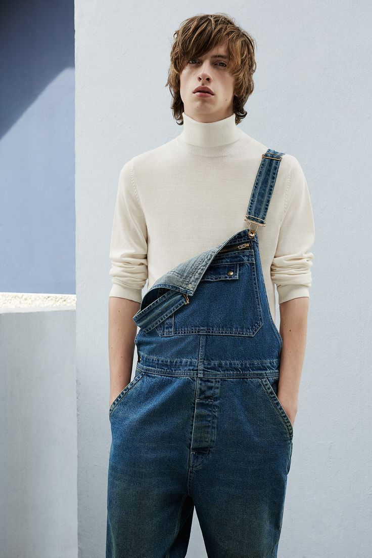 Blue denim dungarees - Topman This is Denim campaign AW15