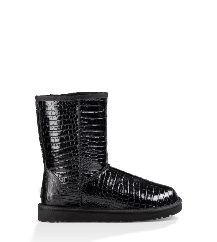 Glossy leather with croc embossing scales up the style of our Classic  silhouette. Just as warm and cozy as the original, this boot features a  plush wool ...