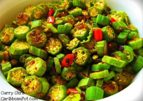 A classic Caribbean style curry okra... .