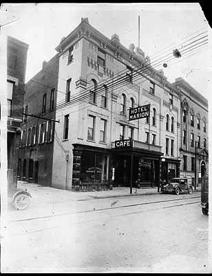 Marion Hotel downtown Marion Indiana on Fifth St. in 1926. Photo/Marion Public Library Museum