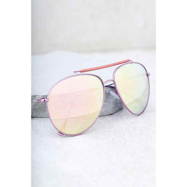 Skyward Pink Mirrored Aviator Sunglasses ($17) ❤ liked on Polyvore featuring accessories, eyewear, sunglasses, pink, mirror aviators, pink sunglasses, pink lens sunglasses, mirror lens aviators and aviator sunglasses