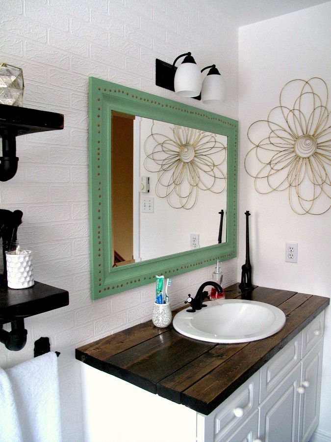 25 Best Ideas About Wood Vanity On Pinterest Reclaimed