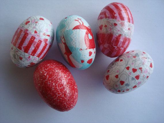 Heart easter eggs by Valelval on Etsy