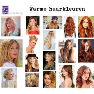 Warme haarkleuren. Warm hair colors.