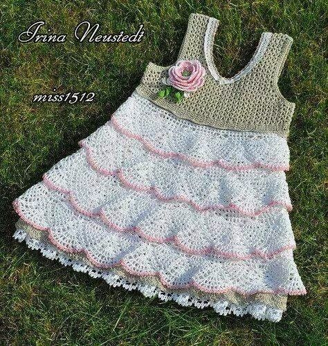 Kız Çocuklar İçin Yazlık Elbise   Hobilendik.net