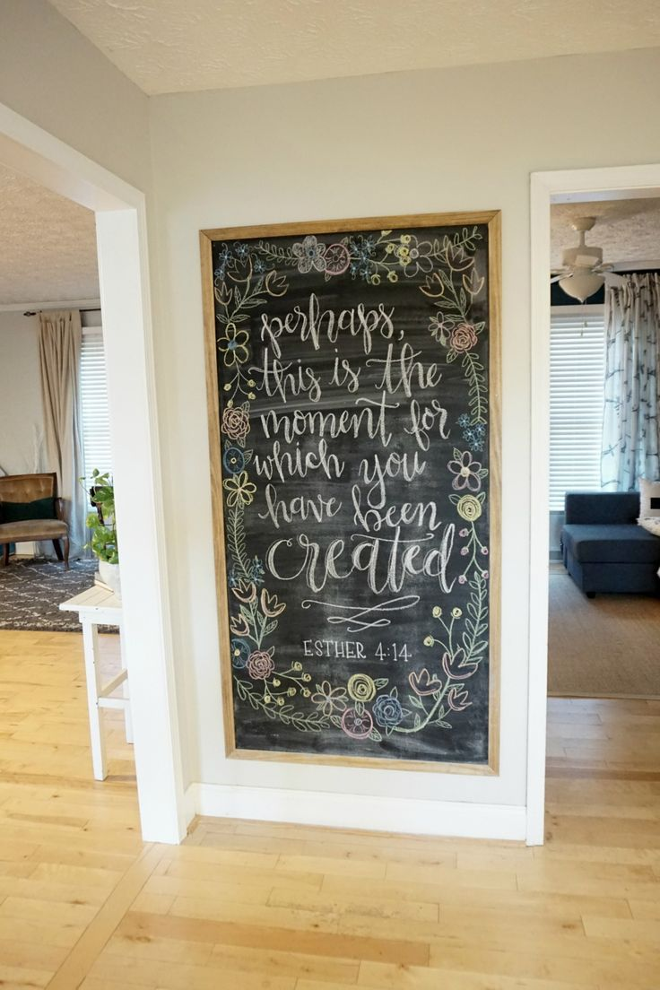 12 affordable ideas for large wall decor chalkboard - Ideas decorating living room walls ...