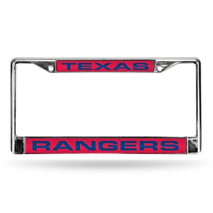 Texas Rangers Chrome Laser Cut License Plate Frame | License Plate ...