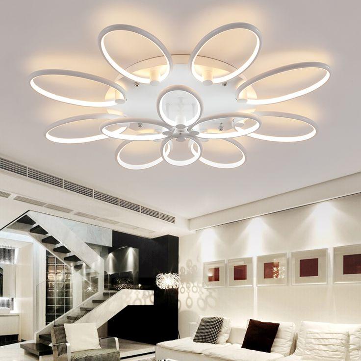 110 220v Aluminum Led Ceiling Light Plafonnier Led Moderne Lustres Lamparas  De Techo Abajur Sala Part 79