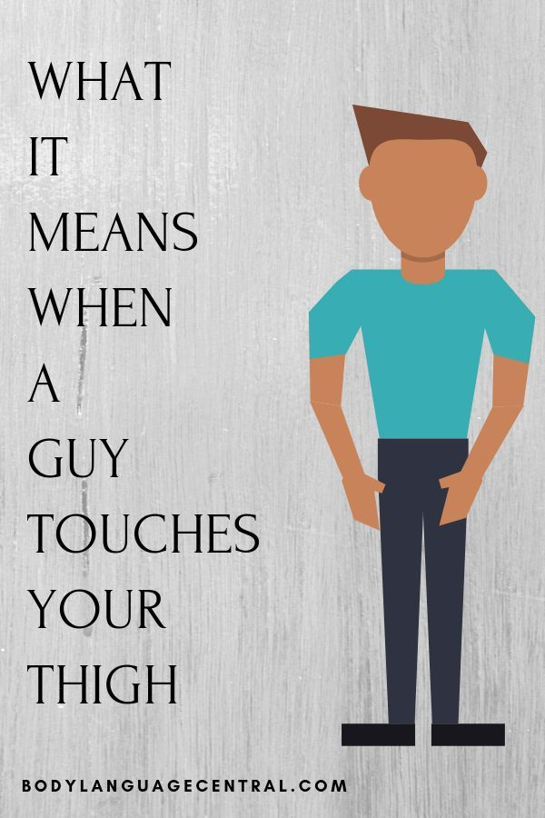 What it means when a guy touches your thigh. | Touching