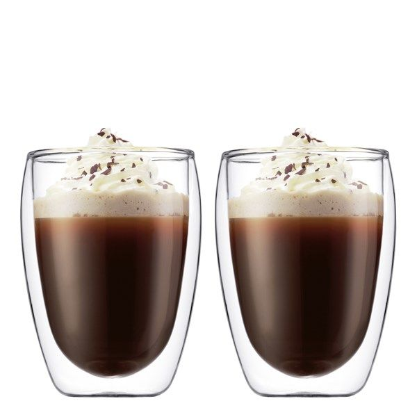 Pavina Kaffeglas dubbelväggat 35 cl 2-pack