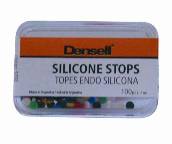 TOPES DE SILICONA • Kit por 100 topes de silicona para endodoncia • Colores surtidos - Cod 5700