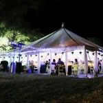 Marquee Tent Hire at night