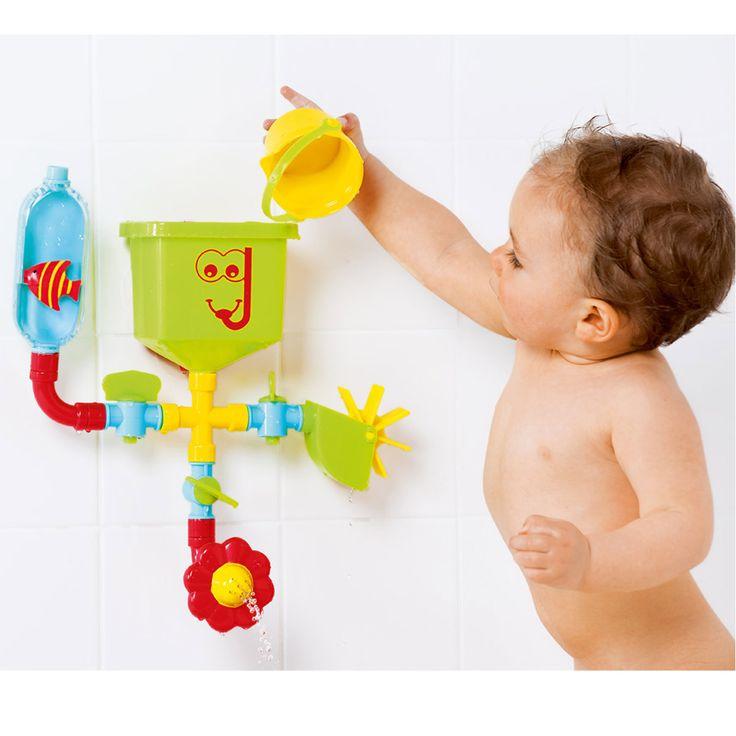 Ce jeu de bain, le petit plombier, fonctionne sur le principe d'un réseau de…