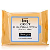 For post gym - Deep Clean Oil-Free Makeup Remover Cleansing Wipes