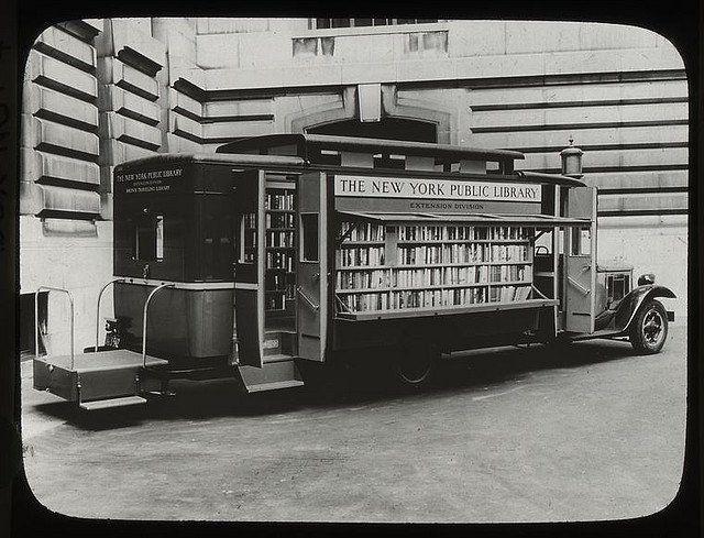 NYC bookmobile, 1930s