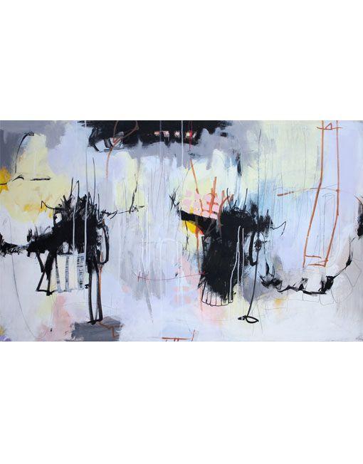 Billedkunstner Bettina Holst akrylmaleri - Benede køer