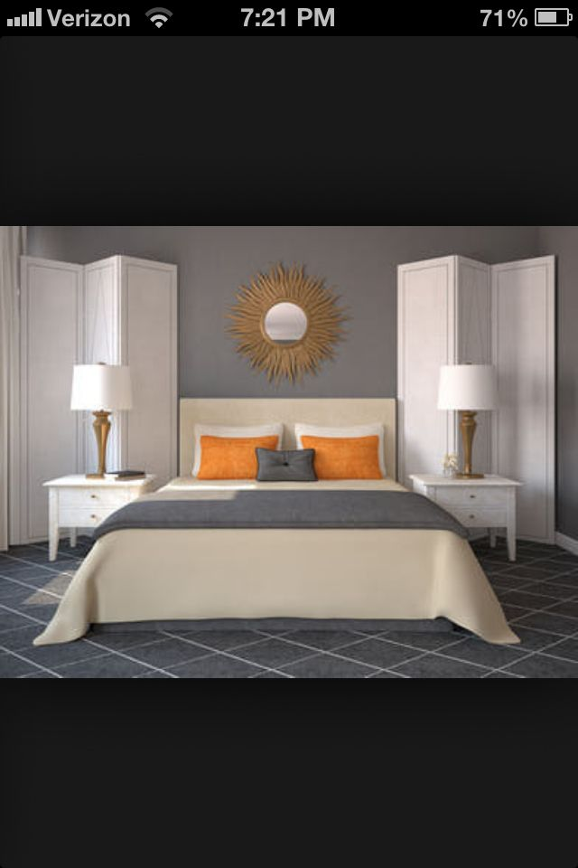 gray and orange bedroom. grey and orange room gray bedroom