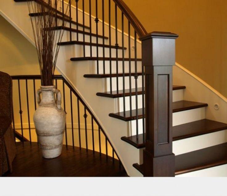 25 Best Ideas About Hardwood Stairs On Pinterest: 25+ Best Ideas About Indoor Stair Railing On Pinterest