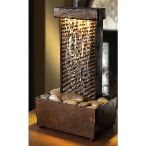Sarah Peyton Home Led Tall Tower Water Indoor Tabletop