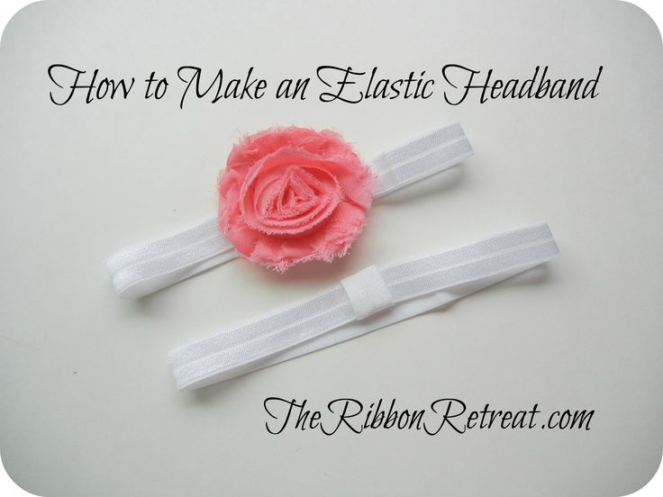 How to Make an Elastic Headband - TheRibbonRetreat.com//// For a Newborn head band cut a 13inch piece of Fold over elastic, and to make a reusable headband glue a 2inch piece to the band!!