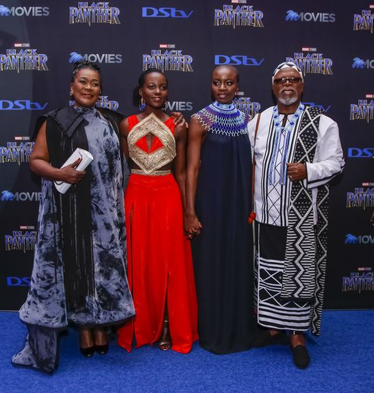 Hollywood A-listers Lupita Nyong'o and Danai Gurira headlined the South African premiere ofBlack Pantheron Friday night in Montecasino, Fourways, north of Johannesburg.  The gorgeous ladies were joined by the movie's two local stars Connie Chiume and John Kani.