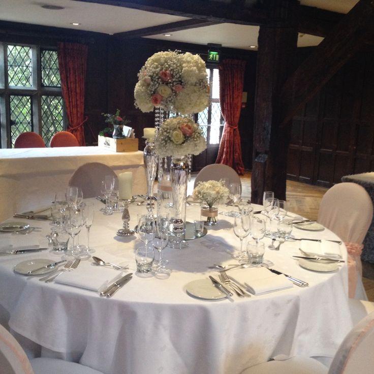 Elegant Table centre piece idea Great Fosters Hotel Surrey