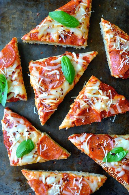 Just a Taste has blown our saucy minds! This Homemade Focaccia Bread Pizza recipe is something we just can't ignore. You've got to try out this delicious recipe!