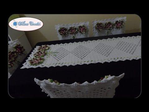 Capa de Crochê para o Encosto da Cadeira - Parte 02 - YouTube