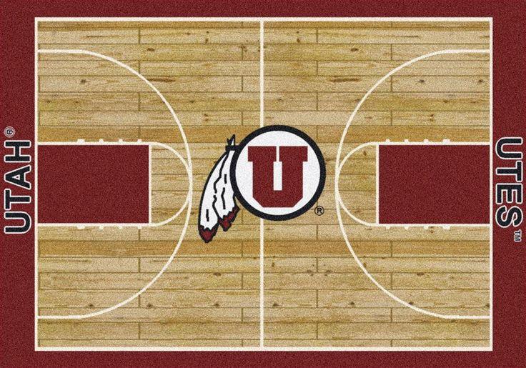 University of Utah Utes Basketball Court Rug