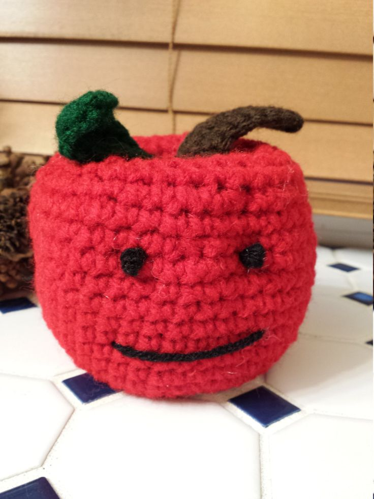 Crochet Apple /Teacher Appreciation Gift/ Principal Gift/End Of School Year Gift/Teachers Gift/Crotchet Principals Gift by familycraftstore on Etsy
