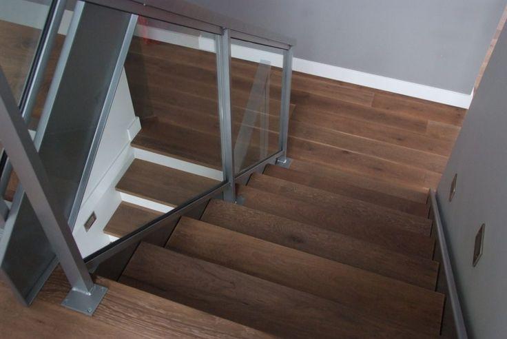 Wide Plank Hardwood   White Oak Stairs