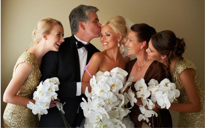 Семья невесты. Все счастливы, улыбаются