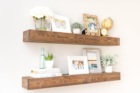 Please Be Sure To Read The Description Faqs Below Our Floating Shelves Are Han Floating Shelf Decor Floating Shelves Kitchen Floating Shelves Living Room