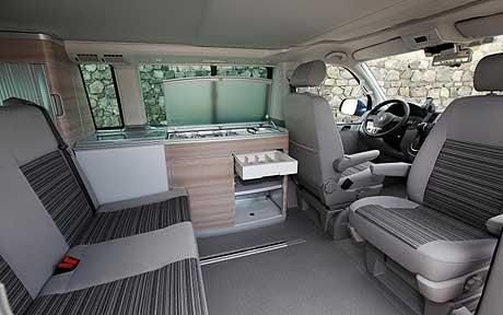 interior of a California Camper Van by VW - Google Search