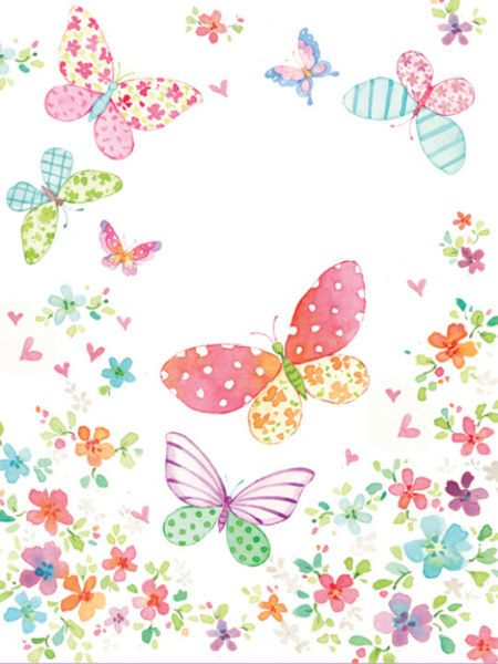 Liz Yee - Butterfly With Floral